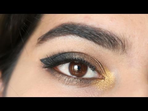 Easy smokey Cat eye makeup tutorial |maybelline the 24k nudes eye palette
