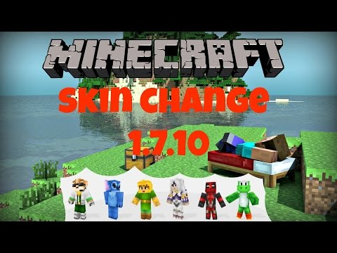 How to change your Skin on Minecraft (1.8/1.7.10/1.7.9) Fast and Simple