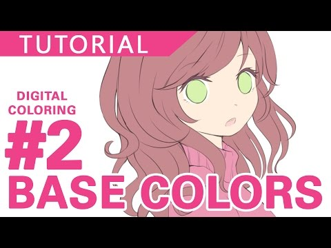 #2 - Base Colors 【Digital Coloring Tutorial】| درس تعبئة الألوان الأساسية