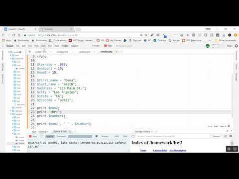 Introduction to PHP Variables