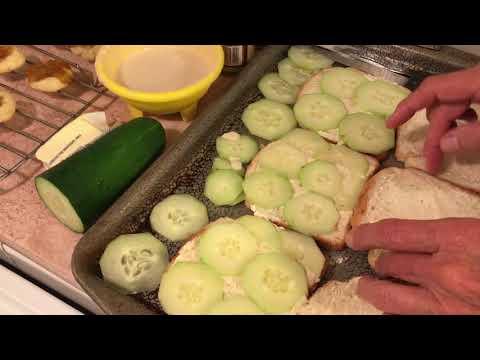 Making Cucumber Sandwiches