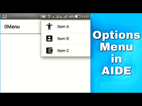 Modifying android OptionsMenu in AIDE