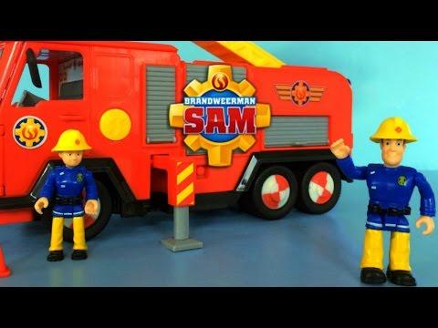 Fireman Sam Toys Unboxing Deluxe Jupiter by Simba |  Fire Truck Brandweerman Sam