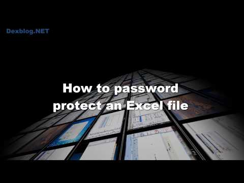 How to password protect an Excel file and only open yourself