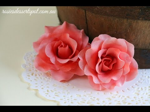 Quick and Easy Gumpaste Rose Tutorial- Rosie's Dessert Spot
