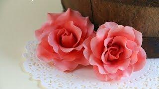 Quick And Easy Gumpaste Rose Tutorial Rosie S Dessert Spot