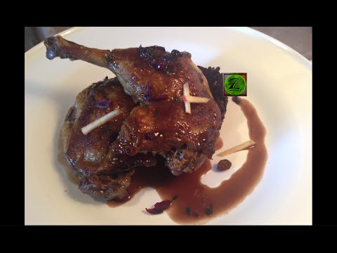 How to debone whole duck, cook confit, make stock and red wine sauce...
