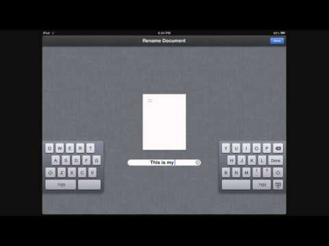 Pages: How to Save, Rename and Delete a Document - iPad / iPhone / iPod Touch