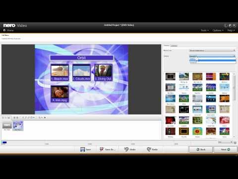 Create Video DVDs in Nero Video via Drag & Drop