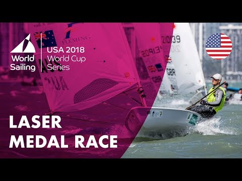 Full Laser Medal Race - Sailing's World Cup Series   Miami, USA 2018