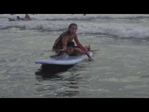 Florida Teens & Costa Rican Kids Surfing
