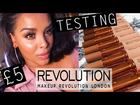 TESTING NEW REVOLUTION £5 FOUNDATION & FULL FACE WTF| NikkisSecretx