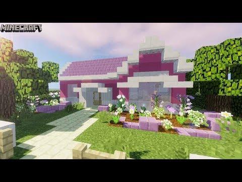 Minecraft - Pretty, Pink & Girly Suburban House Tutorial!