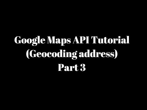 Google Maps API Tutorial in Android Studio Part 3 (Physical address to Map Translation)