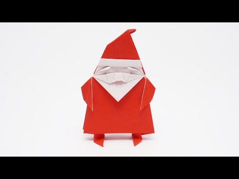 ORIGAMI SANTA CLAUS - How to make it stand easily