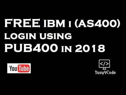 Free IBM i (AS400) login using PUB400 in 2018 | yusy4code