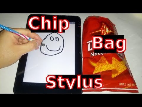 Make A Touchscreen Stylus With A Chip Bag (Works on Android & iPad)