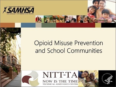 Opioid Misuse Prevention and School Communities