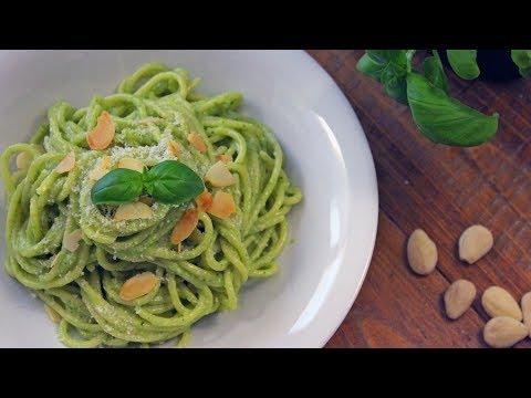 Almond Basil Pesto Spaghetti Recipe | How to Make Basil Pesto | How Tasty Channel