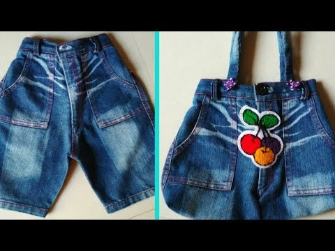 Make A Hand Bag From Old Jeans || DIY Hand Bag