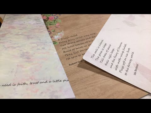 Fairy quotes & papers from kit for signatures & chat