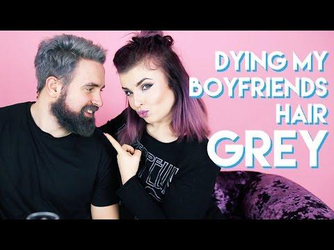 Dying My Boyfriends Hair GREY