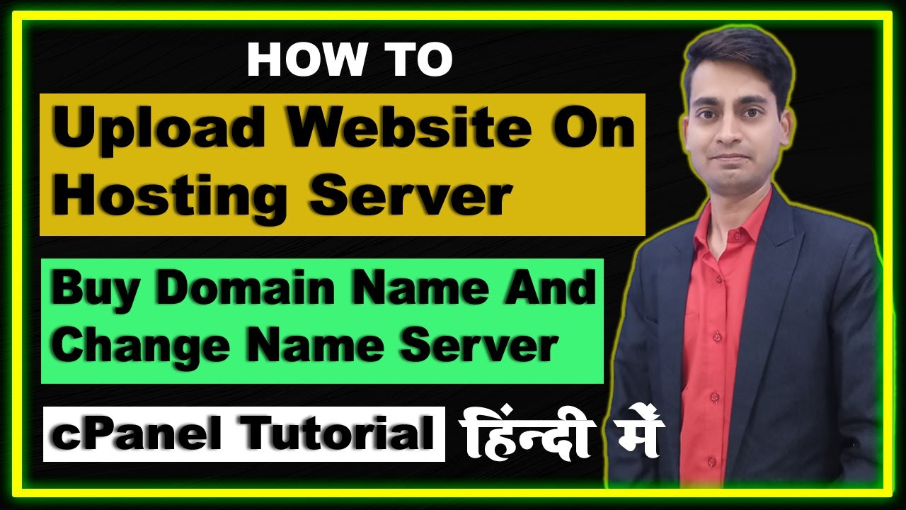 How to upload static website on hosting server | cpanel tutorial | domain setup | Hindi