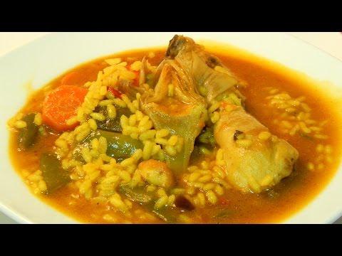 Receta fácil de arroz con pollo y verduras