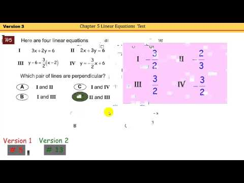 Worked out solutions to Linear Equations Test