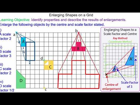 Enlarging an Object using  a Centre and Scale Factor