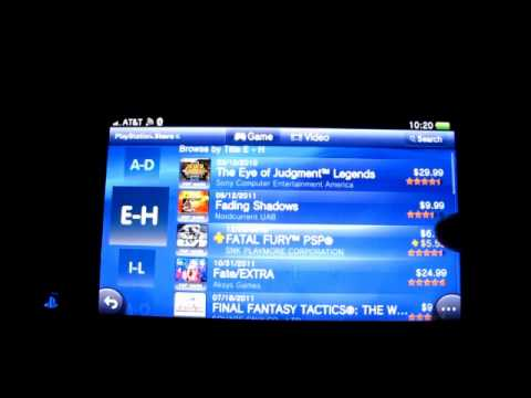 PSP GAMES  don't appear on PS Vita via  PS Store