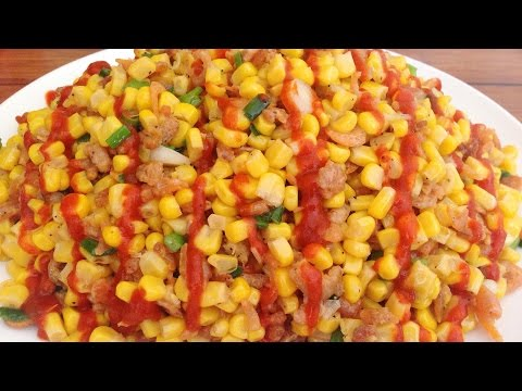 Vietnamese Stir Fried Corn with Dried Shrimp - Bap Xao Tam Kho