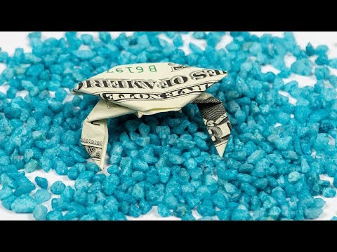 Dollar Bill origami CRAB, how to fold a crab out of MONEY, instructions