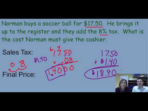Sales Tax and Discount Lesson