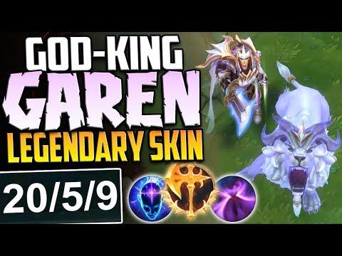 GOD-KING GAREN A LEGENDARY SKIN | STORMRAZOR ONE SHOT BUILD | GAREN PBE NEW SKIN SEASON 8 GAMEPLAY