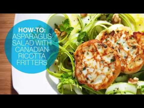 How to make Asparagus Salad with Canadian Ricotta Fritters | Canadian Living