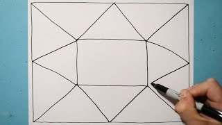 Drawing Cool 3D Pattern Line Illusion / Daily Art Therapy / Day 061