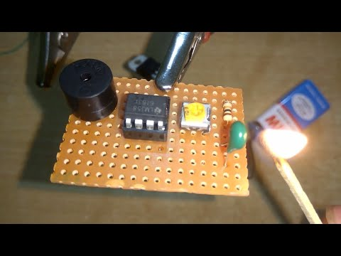 Simple Fire Alarm Circuit at Low Cost