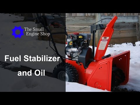 Adding Fuel Stabilizer and Changing Oil on a Ariens Compact 24 Snow Blower 920021