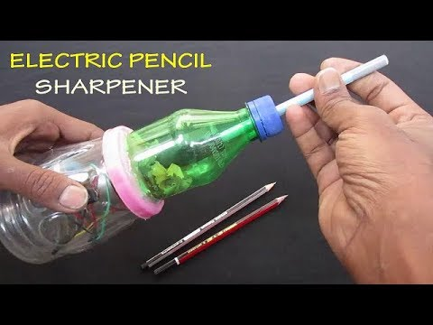 Pencil Sharpener - How to make Electric Pencil Sharpener at home - DIY