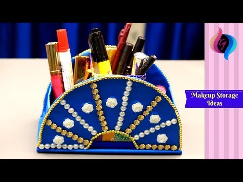 DIY Makeup storage and organization ideas - Makeup storage ideas for small spaces -Best out of waste