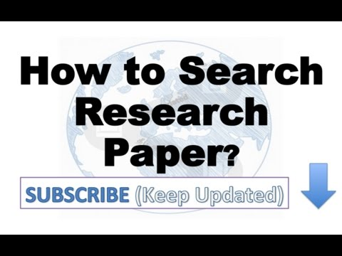 How to Search Research Papers?