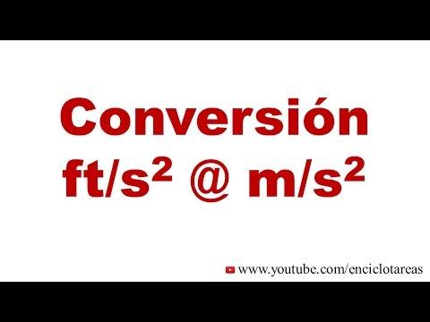 Convertir ft/s2 a m/s2