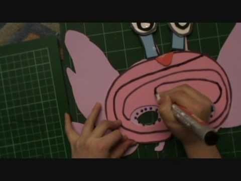 Make a flower alien mask 2 with Little Snowflake child artist .wmv