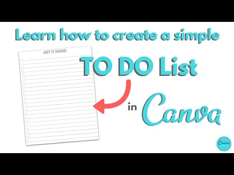How to Create a TO DO checklist in CANVA