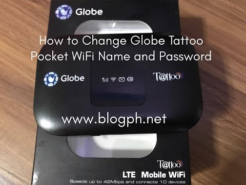 How to Change Globe Tattoo Pocket WiFi Name and Password