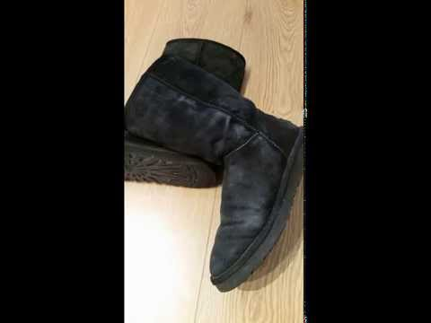 Revive/ dye worn old ugg boots, no water, quick and easy way to make them look new