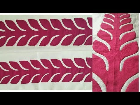 Applique Leaf Strip Tutorial/Dress Design 2018/Shirt Designing