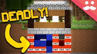 How to make A TRAP HOUSE in Minecraft!!