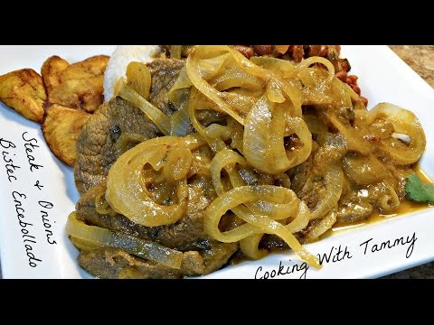 Bistec Encebollado - Steak And Onions -